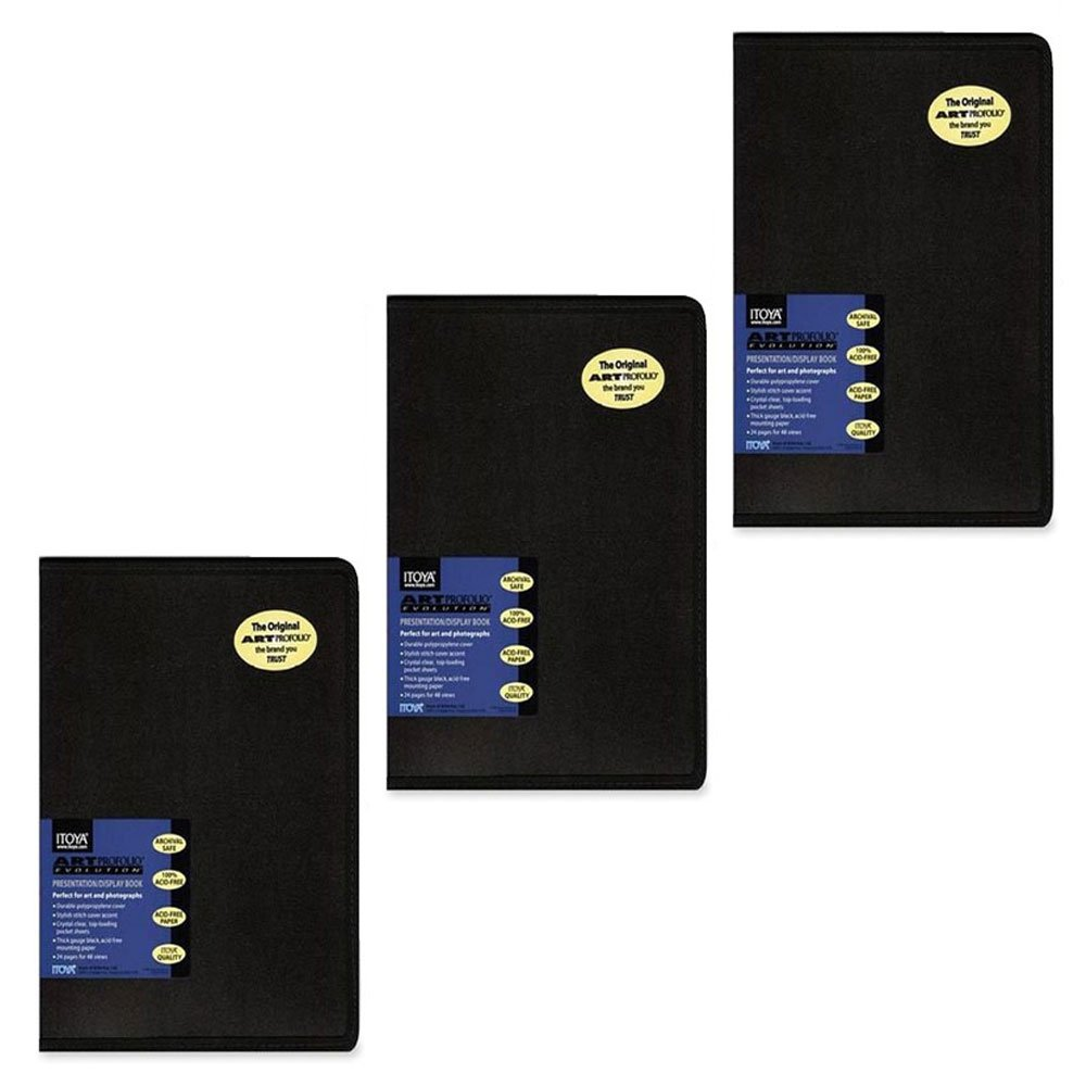 Itoya Art Profolio Evolution 18 x 24'' Presentation Display Book EV-12-18 Pack of 3