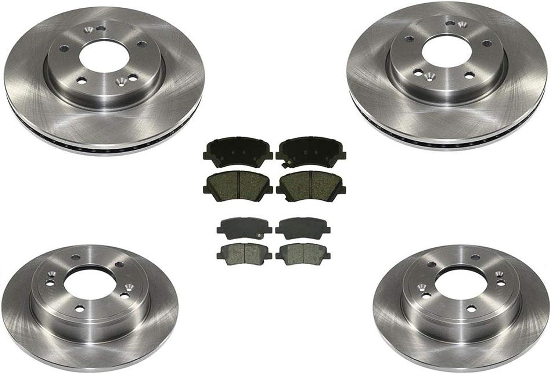 Rear OE Disc Brake Rotors /& Ceramic Pads For 2010 2011 2012 2013 Soul
