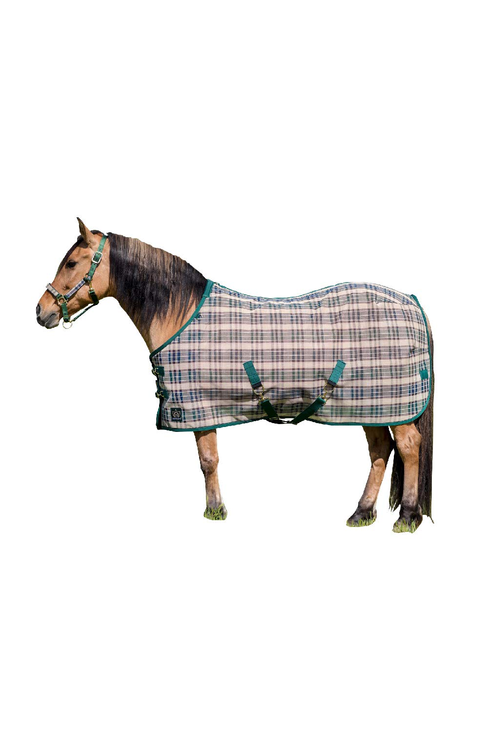 Kensington Platinum SureFit Protective Fly Sheet for Horses - SureFit Cut with Snap Front Chest Closure - Made of Grooming Mesh This Sheet Offers Maximum Protection Year Round - 81'' Deluxe Hunter by Kensington Protective Products (Image #1)