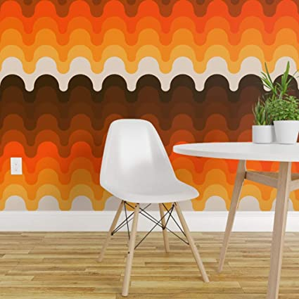 Spoonflower Peel And Stick Removable Wallpaper Retro