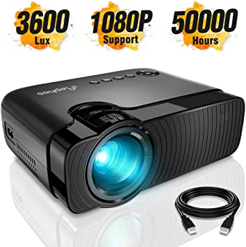 Amazon.com: ELEPHAS Mini Proyector, pantalla Full HD 1080P y ...