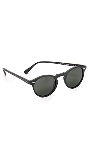 ef05081cce Oliver Peoples 5217S 1031P2 Matte Black Gregory Peck Sun Round Sunglasses  Polar  Oliver Peoples  Amazon.co.uk  Clothing