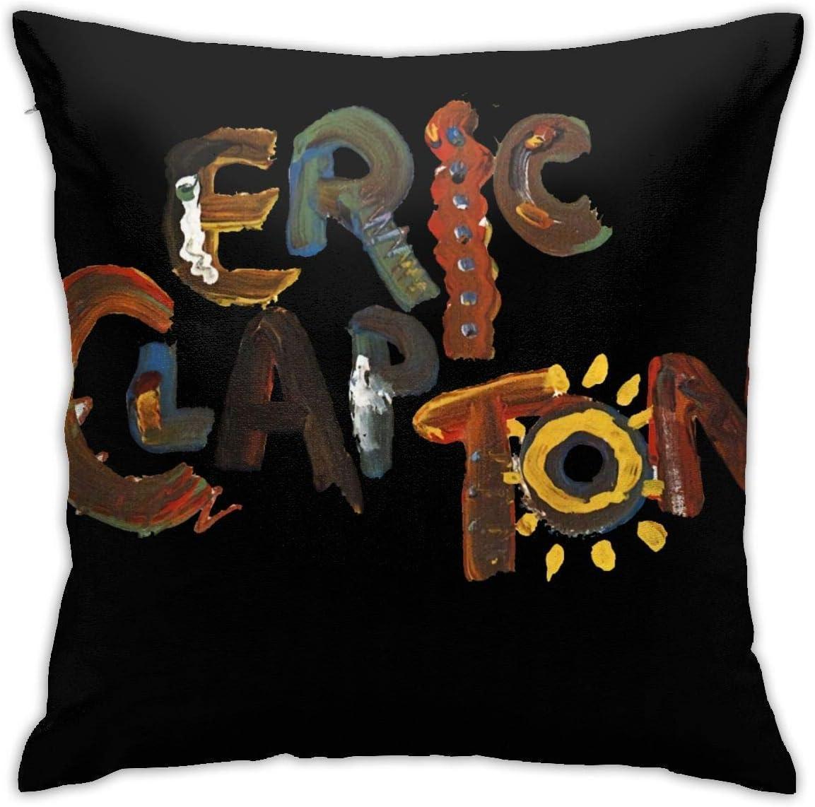 zjipeung Eric Clapton - Funda de almohada cuadrada, diseño de personalidad de moda, decoración del hogar, 45,7 x 45,7 cm