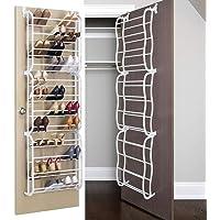 Over The Door Shoe Rack - 36 Pair - Storage Organizer