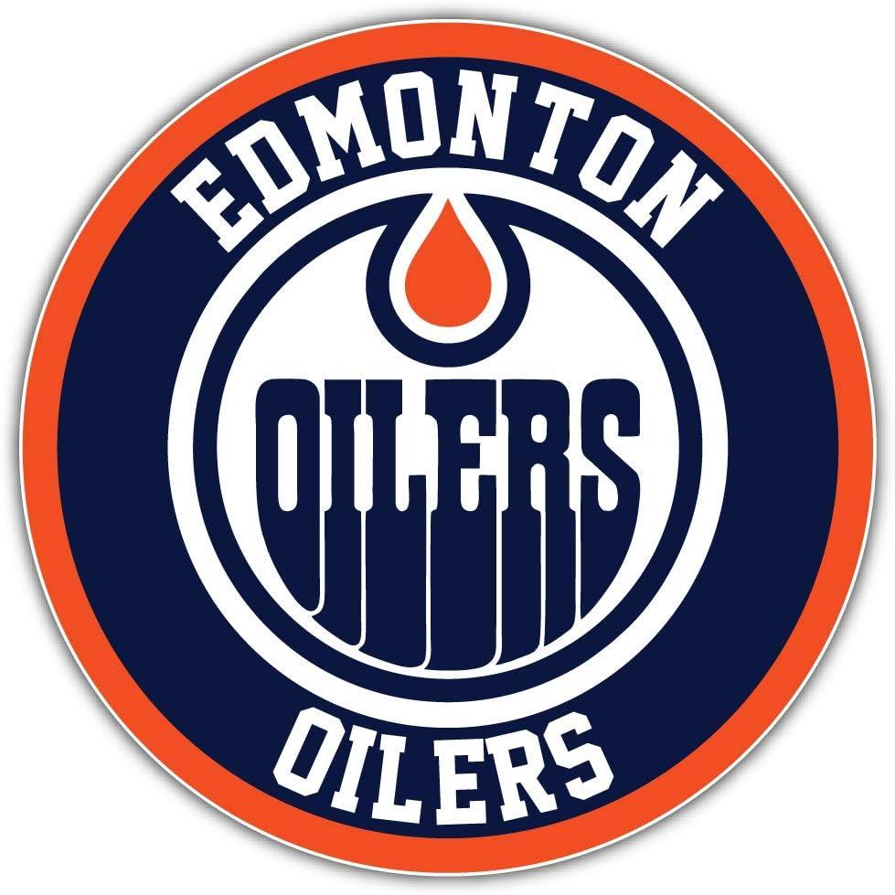 Edmonton Logo Sport Car Bumper Sticker Decal 5 X 5 hotprint Oilers Hockey