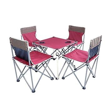 Mesa HUO Plegables mesas y sillas combinación Ocio Barbacoa Picnic ...