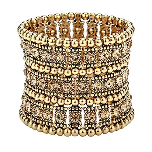 Hiddleston Multilayer 3 Row Jewelry Gothic Stretch Bracelet Armband Armlet Sleeve Arm Cuff Rocker Wristband Heavy Metal Bobo Halloween Costume Women Accessory -