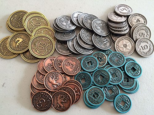 Stonemaier Games Scythe Metal Coins Board Game Addon, Coin Accessory
