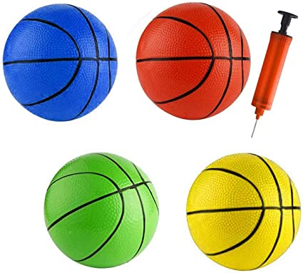 Neue Mini Kinder Kind Gummi Basketball Outdoor Indoor Play Game Ball 5,1 Zoll