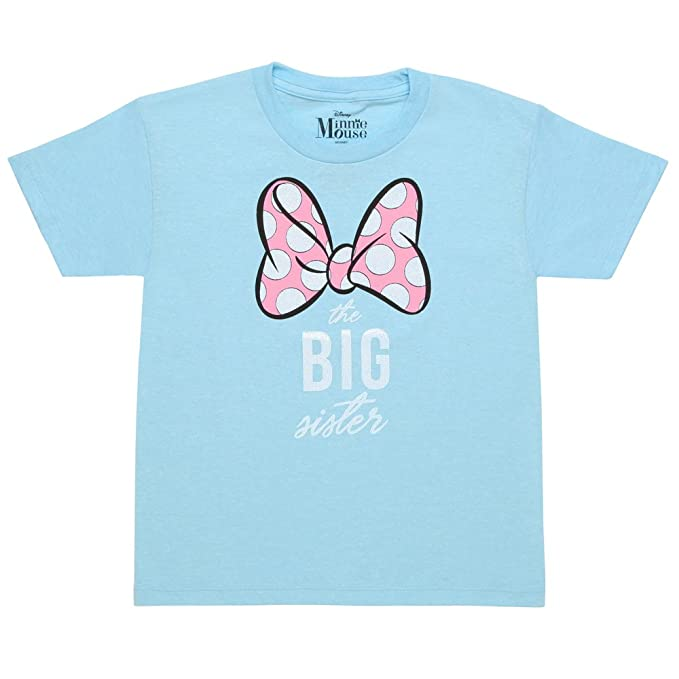 Amazon.com: Minnie Mouse The Big Sister Juvy T-Shirt, 7 ...