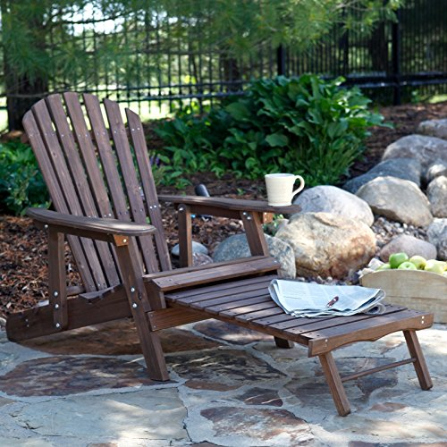 Coral Coast Grand Daddy Oversized Adirondack Chair with Pull out Ottoman Dark (Large Adirondack Ottoman)