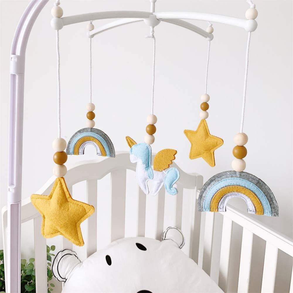 CL01 Baby Windspiel Krippe Mobile f/ür Jungen und M/ädchen,baby windspiel junge,Bettglocke,Mobile Krippe,Mobile f/ür Babybett