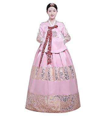 Amazon.com: Lemail Womens Hanbok Dress Korean Traditional Dress ...