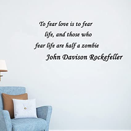 Home Decor Inspiration Wall Sticker Quotes Removable To Fear Love Is To  Fear Life, And