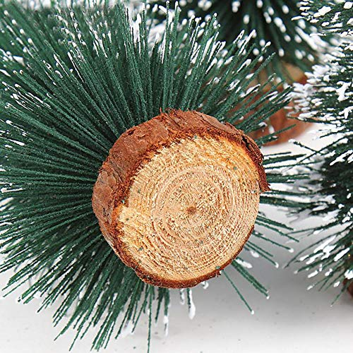 Highpot Mini Christmas Tree Green Sisal Snow Frost Trees Bottle Brush Trees Tabletop Christmas Trees for DIY Room Decor Table Top Decoration (7.9 inches) by Highpot (Image #6)