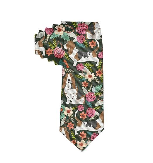 ab3529f7347eb Amazon.com: Boy Neckties Basset Hound Dog Fashion Formal Party Suit ...