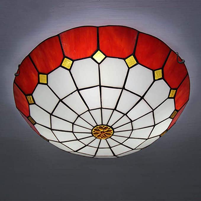 Amazon.com: DSHBB Ceiling Lights, 40cm Tiffany Style Pendant ...