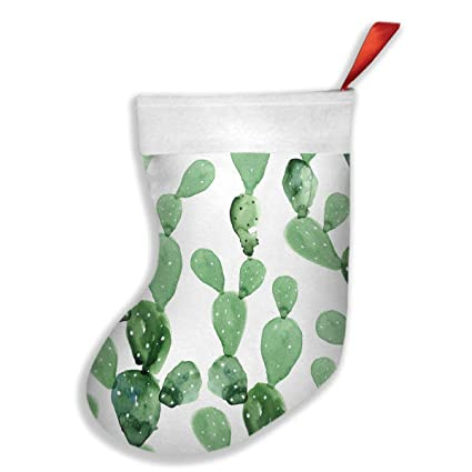 qiffan22 watercolor cactus pattern christmas stockingsxmas stockingchristmas decorationsclassic xmas stocks
