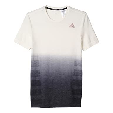 Men's adidas Ultra Wool Primeknit Short Sleeve - DipDye, Off White/Black,  Small