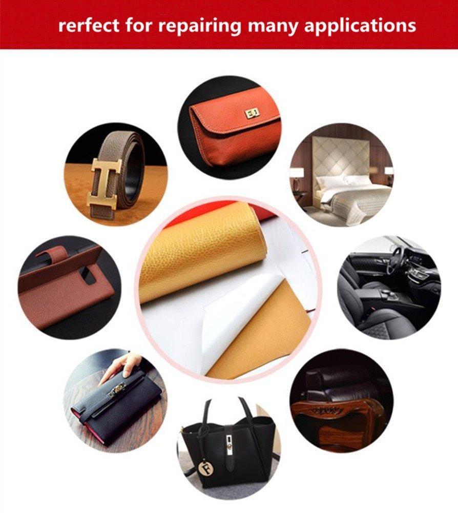 Parche de reparación de cuero, adhesivo de primeros auxilios para sofás, asientos de coche, chaquetas de bolsos adhesivas, kit de reparación de cuero ...