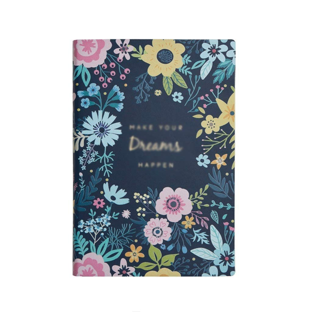 FS Notepad, College Students' Simple Handbook, Personalized Creative Diary, Girl Cute Account Japanese-Style Bookkeeping (Color : Lantian Flower Cluster)