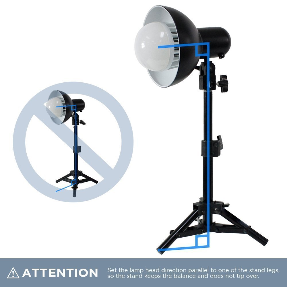LimoStudio 2 x 18W LED Table Top Lighting Stand Kit with 12'' Acrylic Black & White Reflective Photo Background, Photo Studio, AGG1847 by LimoStudio (Image #6)