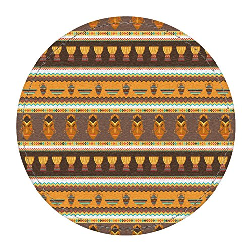 African Masks Round Desk Weight - Genuine ()