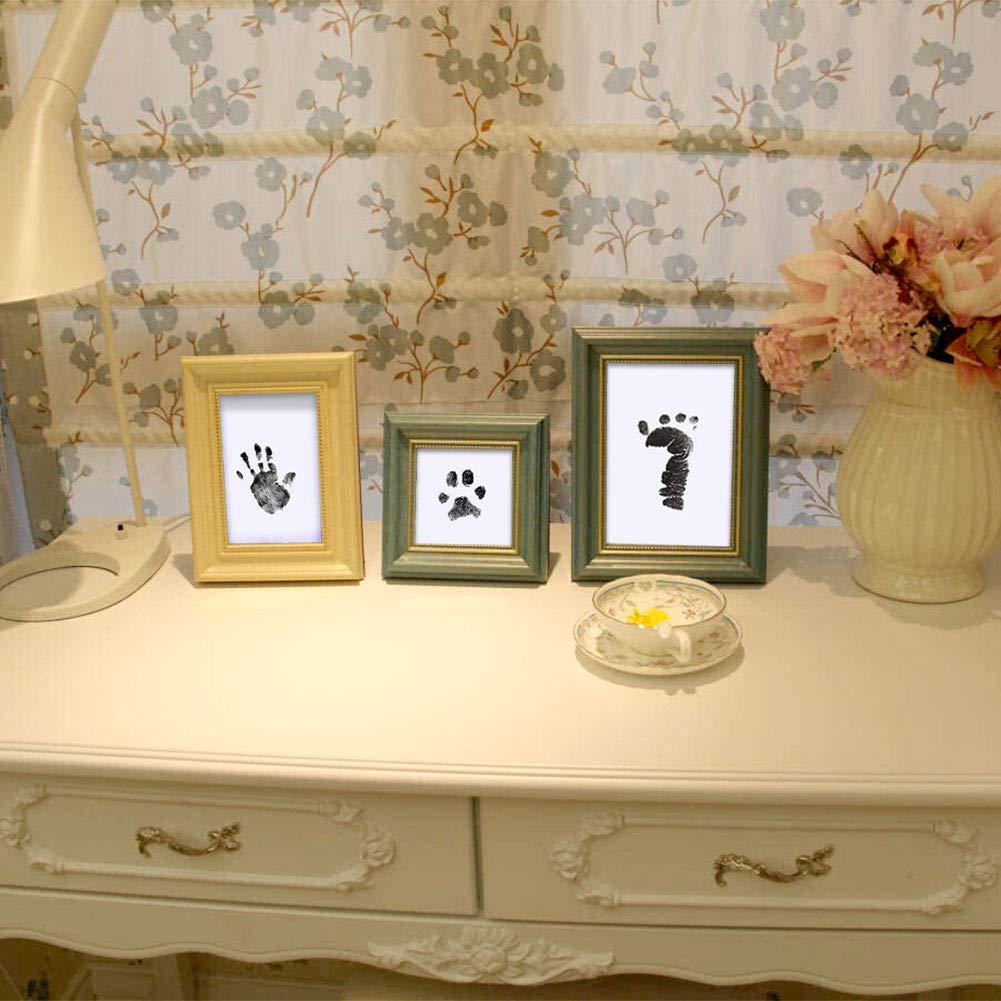 Xiangmall 2 Pack Baby Fu/ßabdr/ücke Handabdr/ücke und Fingerabdr/ücke Kit Neugeborenes Abdruck Set f/ür Familien Andenken Baby Shower Geschenk und Registry