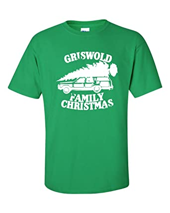 griswold family christmas tree on car mens t shirt small green ata588