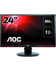 "AOC G2460PF 24"" LED Full HD (1920x1080) Freesync 144Hz 1ms Height adjustable Gaming monitor with Built-in speakers (VGA, DVI, HDMI, DisplayPort, USB x 2) - Black"