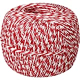 Made in USA 100% Cotton Red White Baker's Twine 1/2 Lb Spool (approx 1500 feet / 500 yards)