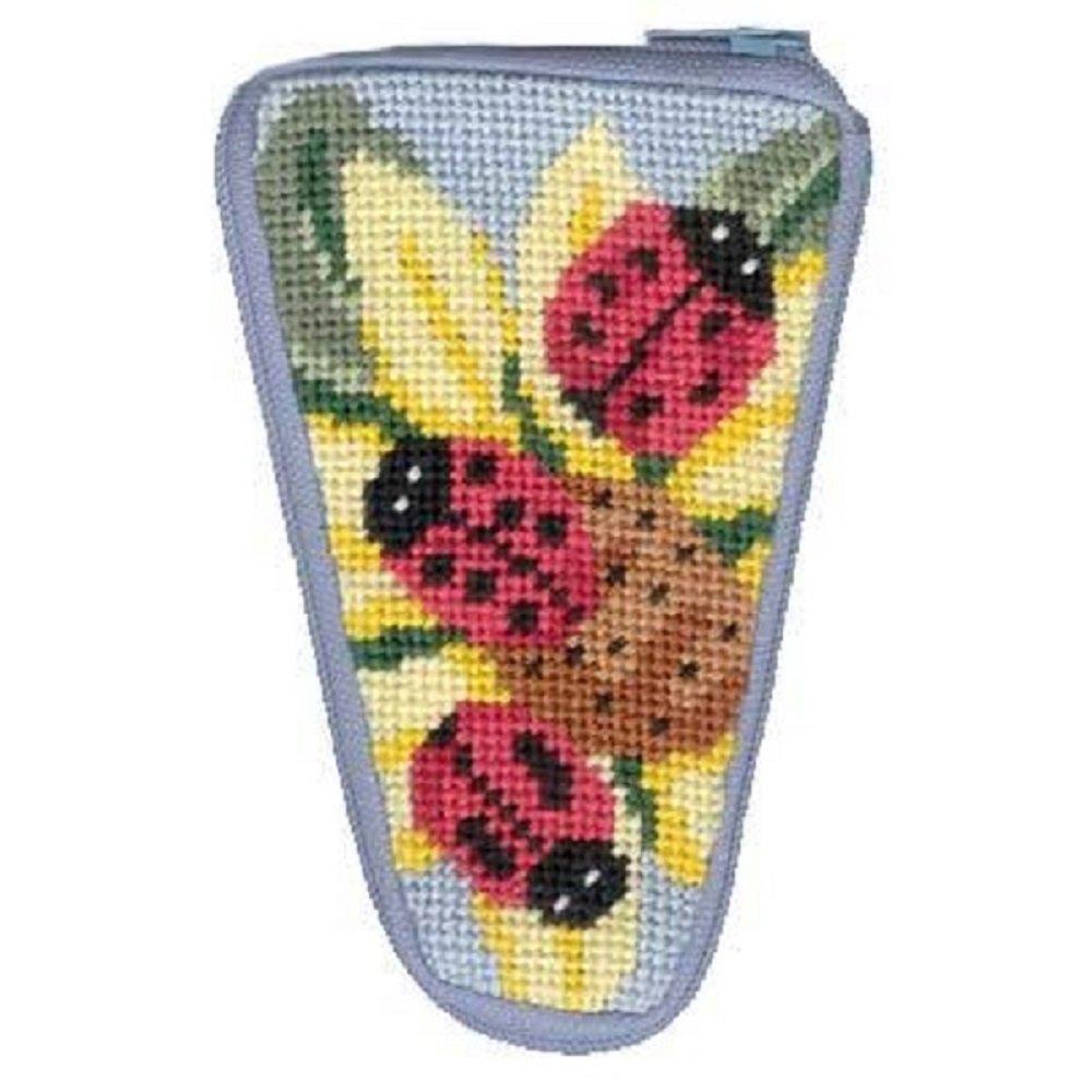 Ladybug Needlepoint Kit Scissor Case