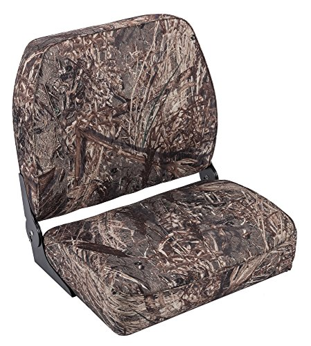 Wise Camo Big Man Hunting/Fishing Fold Down Boat Seat, Mossy Oak Duck Blind (Duck Boat Blinds)