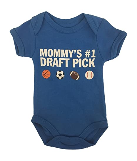Amazon Com Wild Child Baby Boys Mommy S 1 Draft Pick 1 Pc Bodysuit