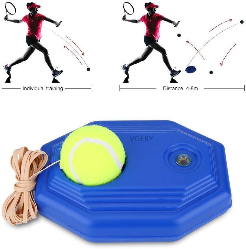 Tenis de Entrenamiento Pelota y Cuerda de Goma de Alta Elasticidad con Base Accesorio de Entrenamiento de Tenis