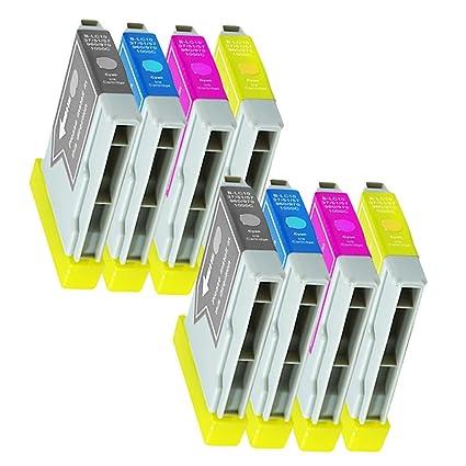 8 Cartuchos de Tinta para Impresora Brother DCP130 C dcp135 ...