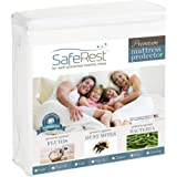 (King) - SafeRest Premium Hypoallergenic Waterproof Mattress Protector - Vinyl, PVC and Phthalate Free