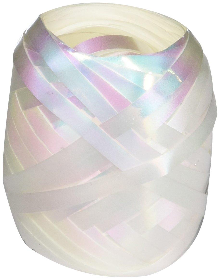 Berwick BCE1252 3/16'' x 66ft Curl Keg White Iridescent Ribbon