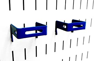 product image for Wall Control Pegboard 2in x 2in C-Bracket Slotted Metal Pegboard Hook for Wall Control Pegboard and Slotted Tool Board – Blue