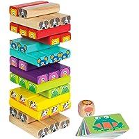 WOOMAX- Torre de madera 52 piezas (ColorBaby 46251)
