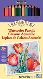 product image for General Pencil Kimberly Watercolor Pencils 12/Pkg-Assorted Colors