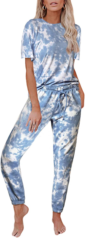 Cyenaly 2 Piece Pajamas for Women Sleepwear Lounge Pajamas Set Outfits S-2XL