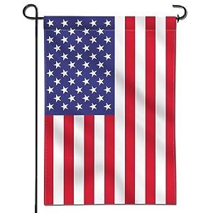 "Mogarden American Garden Flag, Double Sided, 12""x 18"", Thick Weatherproof USA Yard Flag"