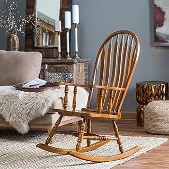 Magnificent Amazon Com Slat Back Rocking Chair White Kitchen Dining Short Links Chair Design For Home Short Linksinfo