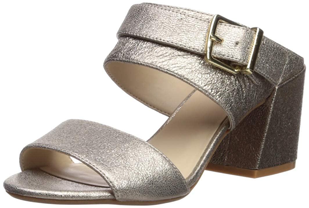 Champagne Kenneth Cole New York Womens Hannon 2 Way Adjustable Strap Heeled Sandal Heeled Sandal