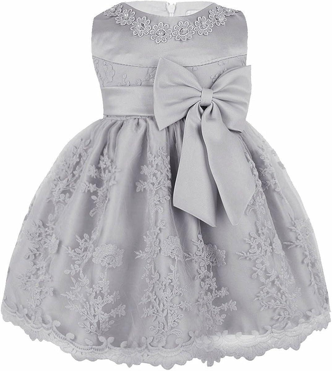 iiniim Baby Girls Princess Rose Flower Bow Dress