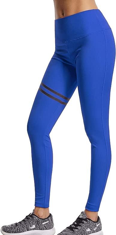 FITTOO Pantalones Deportivos Leggings Mujer Yoga de Alta Cintura Elásticos y Transpirables para Running Fitness Yoga con Gran Elásticos63590