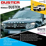 DUSTER Bold Type Sticker White Reflective