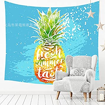 230150CM Tapestry Tapestries Decor Wall hanging Fruit Beach Towel/_Tropical Pineapple Room Dormitory Tapestry Wall Beach Towel 210320
