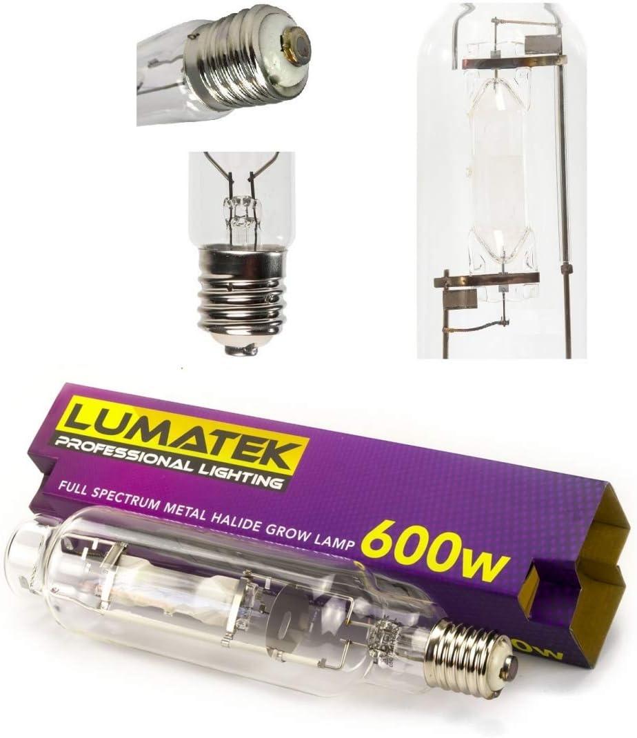 Lámpara de cultivo para Crecimiento MH Lumatek E40 Bombilla 600W